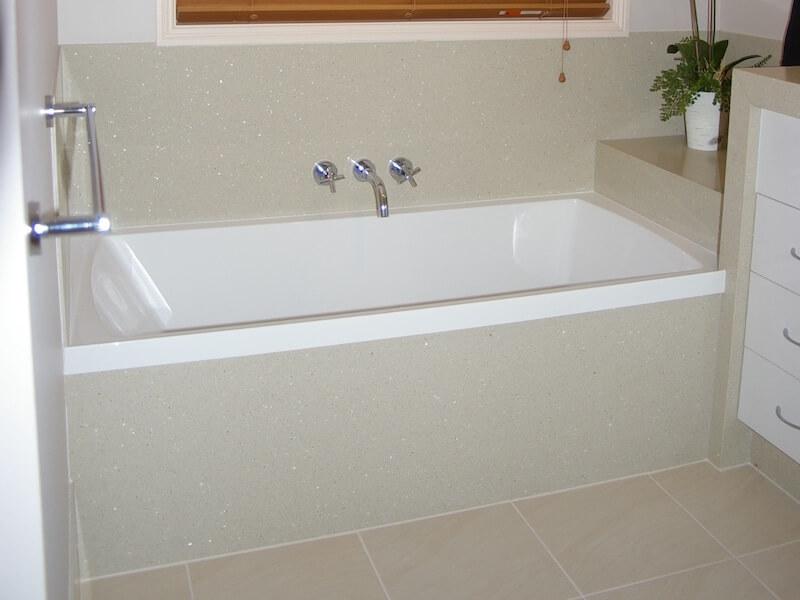 Quartz Tub Deck Installation